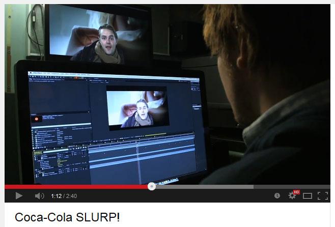 コカ・コーラ「映画館マナーの注意喚起」動画
