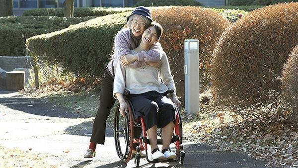 マンゴーと赤い車椅子