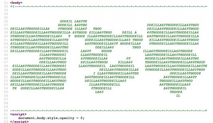 隠れゴジラ ソースコード
