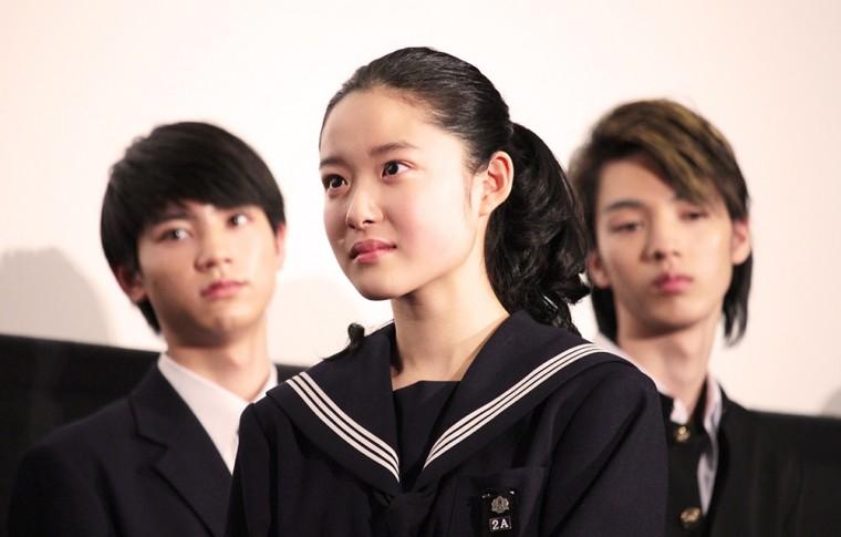 ソロモンの偽証 後篇・裁判 初日舞台挨拶 卒業証書 藤野涼子