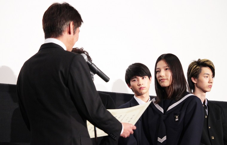 ソロモンの偽証 後篇・裁判 初日舞台挨拶 卒業証書 石井杏奈