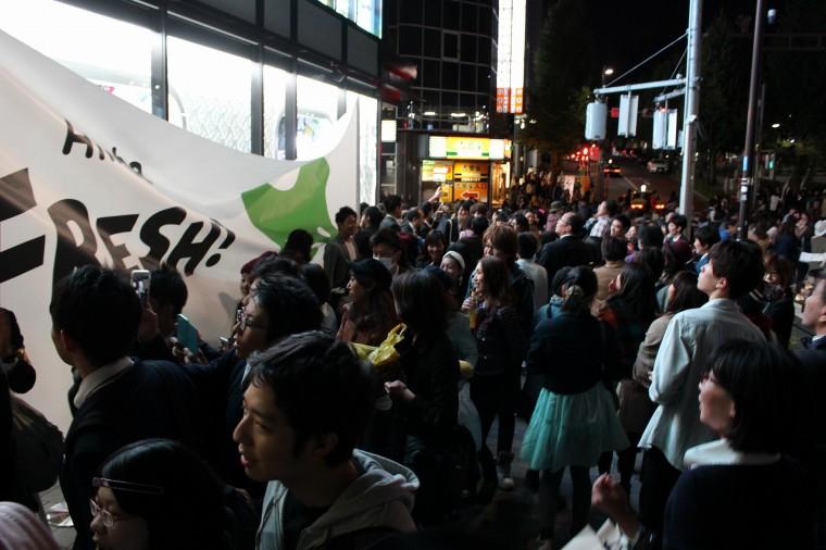 原宿にて番組初の公開生放送