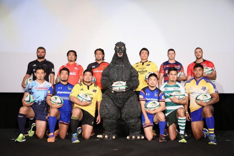 日本代表選手とゴジラ