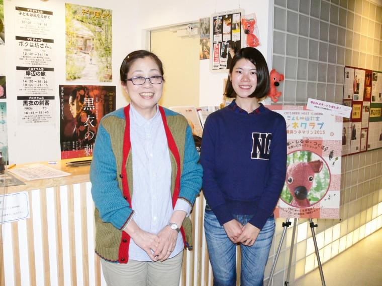 支配人の八幡温子さん(左)