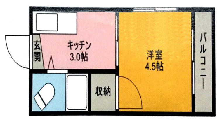 広島 横川 激安物件 間取り